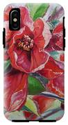 Japanese Quince In Blossom IPhone X Tough Case