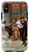Johann Gutenberg's Printing Press IPhone X Tough Case