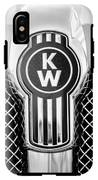 Kenworth Truck Emblem -1196bw IPhone X Tough Case