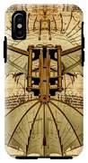 Leonardo Da Vinci Antique Flying Machine Under Parchment IPhone X Tough Case