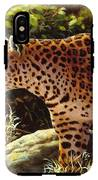 Leopard Painting - On The Prowl IPhone X Tough Case