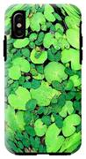 Lily Pads On Black IPhone X Tough Case