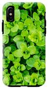 Little Green Leafs. IPhone X Tough Case