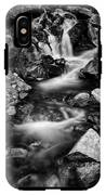 Lower Bridal Veil Falls 3 Bw IPhone X Tough Case