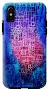 Manhattan Map Abstract 5 IPhone X Tough Case