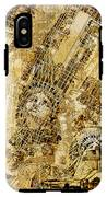 Manhattan Map Antique IPhone X Tough Case
