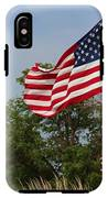 Memorial Day Flag's With Blue Sky IPhone X Tough Case