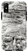 Minerva Springs In Black And White Yellowstone National Park Wyoming IPhone X Tough Case