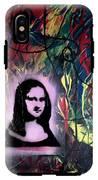 Mixed Media Abstract Post Modern Art By Alfredo Garcia Mona Lisa 2 IPhone X Tough Case