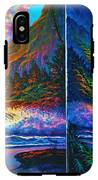 Napali Cliff's Sunset - Diptych IPhone X Tough Case