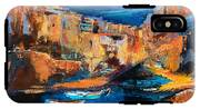 Night Colors Over Riomaggiore - Cinque Terre IPhone X Tough Case