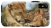 Nostalgia Lioness With Cubs IPhone X Tough Case