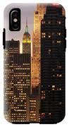 Nyc Midtown Golden Lights IPhone X Tough Case