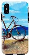 Old Bike At The Beach IPhone X Tough Case