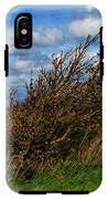 On Beachy Head Plants Bow To The Wind IPhone X Tough Case