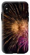 Orange Purple Fireworks Galveston IPhone X Tough Case