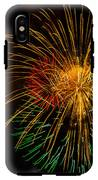 Orange Yellow Green Fireworks Galveston IPhone X Tough Case