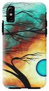 Original Bold Colorful Abstract Landscape Painting Family Joy I By Madart IPhone X Tough Case