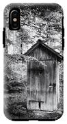 Outhouse In The Forest Black And White IPhone X Tough Case