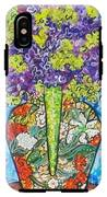 Painted Vase With Hydrangeas IPhone X Tough Case