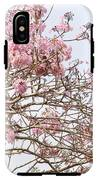 Parakeets Hiding In The Flowers IPhone X Tough Case