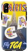 Paris Vintage Travel Poster IPhone X Tough Case