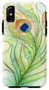 Peacock Feather Watercolor IPhone X Tough Case