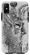Person Insect. Smoker. Surrealistic IPhone X Tough Case