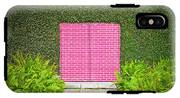 Pink Brick Door IPhone X Tough Case