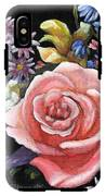 Pink Rose Floral Painting IPhone X Tough Case
