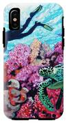 Playing With The Sea Turtles IPhone X Tough Case