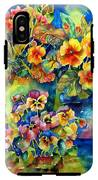 Potted Pansies  IPhone X Tough Case
