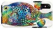 Puffer Fish Art - Puff Love - By Sharon Cummings IPhone X Tough Case