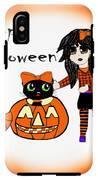 Pumpkin And Halloween Cat IPhone X Tough Case