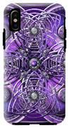 Purple And Silver Celtic Cross IPhone X Tough Case
