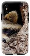 Raccoon In Tree IPhone X Tough Case