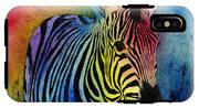 Rainbow Zebra IPhone X Tough Case