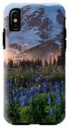 Rainier Wildflower Meadows Pano IPhone X Tough Case