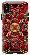 Red And Gold Celtic Cross IPhone X Tough Case