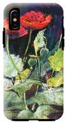 Red Flowers IPhone X Tough Case