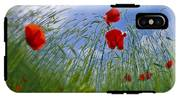 Red Poppies And Blue Sky IPhone X Tough Case