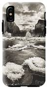 Rime Ice On The Merced In Black And White IPhone X Tough Case