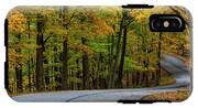 Roadway In Autumn In Brown County State IPhone X Tough Case