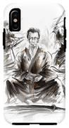 Samurai Meditation. IPhone X Tough Case