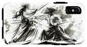 Samurai Sword Bushido Katana Martial Arts Budo Sumi-e Original Ink Painting Artwork IPhone X Tough Case