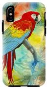Scarlet Macaw In Abstract IPhone X Tough Case