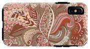 Seamless Abstract Hand-drawn Floral IPhone X Tough Case