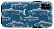Seamless Pattern With Hand Drawn Fish IPhone X Tough Case