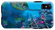 Secret Sanctuary - Hawaiian Green Sea Turtle And Reef IPhone X Tough Case