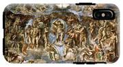 Sistine Chapel The Last Judgement, 1538-41 Fresco Pre-restoration IPhone X Tough Case